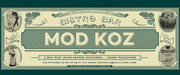Le MOD KOZ, bar bistro à Rennes